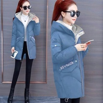 00 printing cotton clothing women in the long section was thin Korean version of the cotton winter clothing new little sale bread service cotton jacket outside