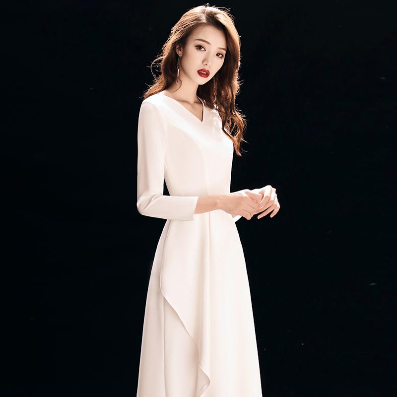 10-10新券晚礼服裙女2019新款高端大气气质宴会高贵优雅晚装连衣裙平时可穿