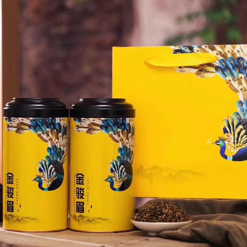新しいお茶の新商品の金眉の駿足の茶の特別な級の濃い香り型の正統の武夷山の桐の木の関金の美しい眉の紅茶の贈り物の箱は詰めます