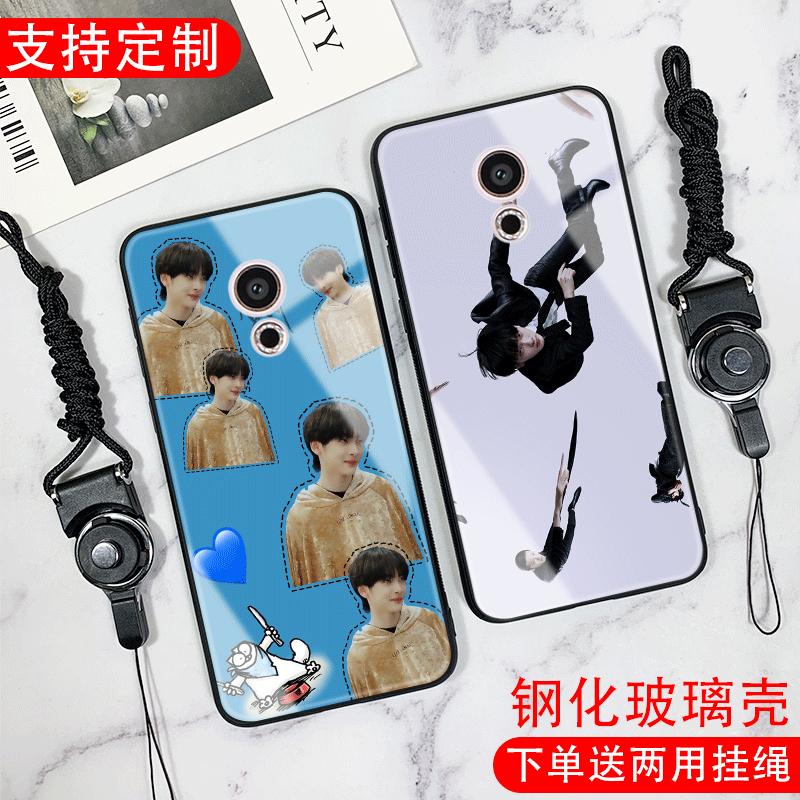 Vin周震南适用于魅族note5/6魅蓝15/16thplus/e3镜面玻璃手机壳款图片