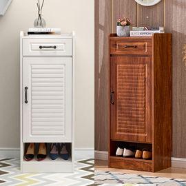 进门口小鞋柜简约现代门厅柜家用省空间单门小户型迷你窄款电梯口