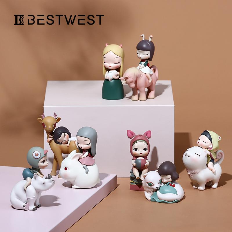 创意艺术摆件少女心可爱桌面装饰品白夜童话猫将军生日礼物小摆设10月12日最新优惠