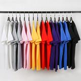 英纳度 男宽松纯棉 彩虹色T恤 35色可选  9.9元包邮