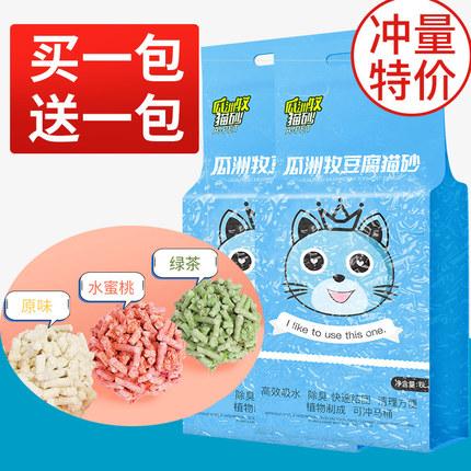 瓜洲牧 除臭豆腐猫砂 水蜜桃味 6L    15.8