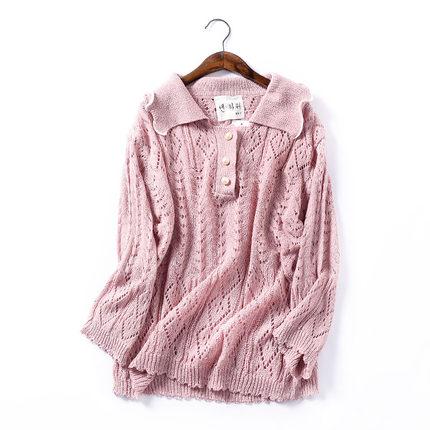 【包邮】J@10 时尚秋季气质镂空针织罩衫软妹针织衫ins小清新少女