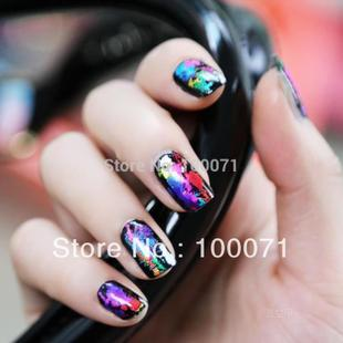 5Pcs Styles Nail Art Tips Foil Wrap Transfer Paper Glitter S