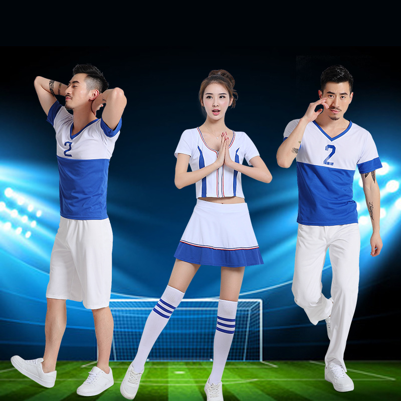 2016新款姝璐足球宝贝男女套装啦啦队舞台演出服装健美操拉拉队服