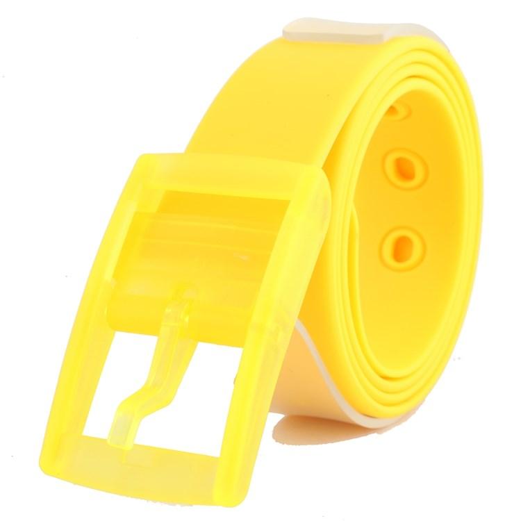 Pin buckle young womens belt student non-metallic simple mens non-magnetic anti allergy belt trouser belt plastic plastic