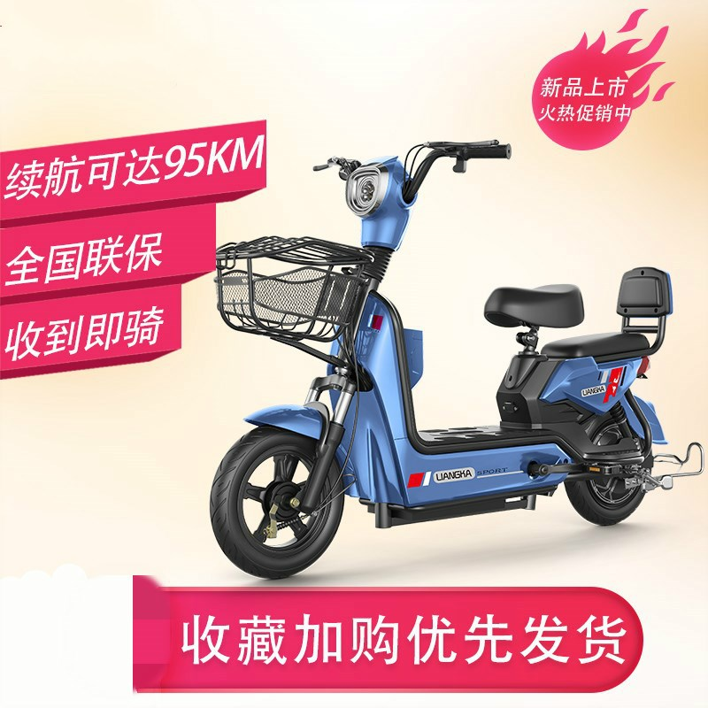 Electric scooter. Charging car Mini boy small electric bicycle