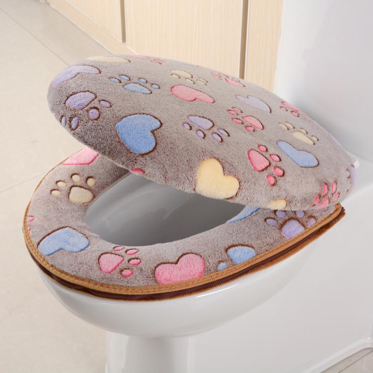 马桶圈厕所家用通用套装带盖可爱套子两件垫马桶马桶垫坐便器垫