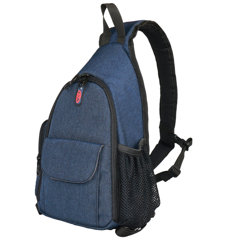 宝罗摄影包简约单肩小单反相机包斜跨包男女轻便三角户外轻型背包
