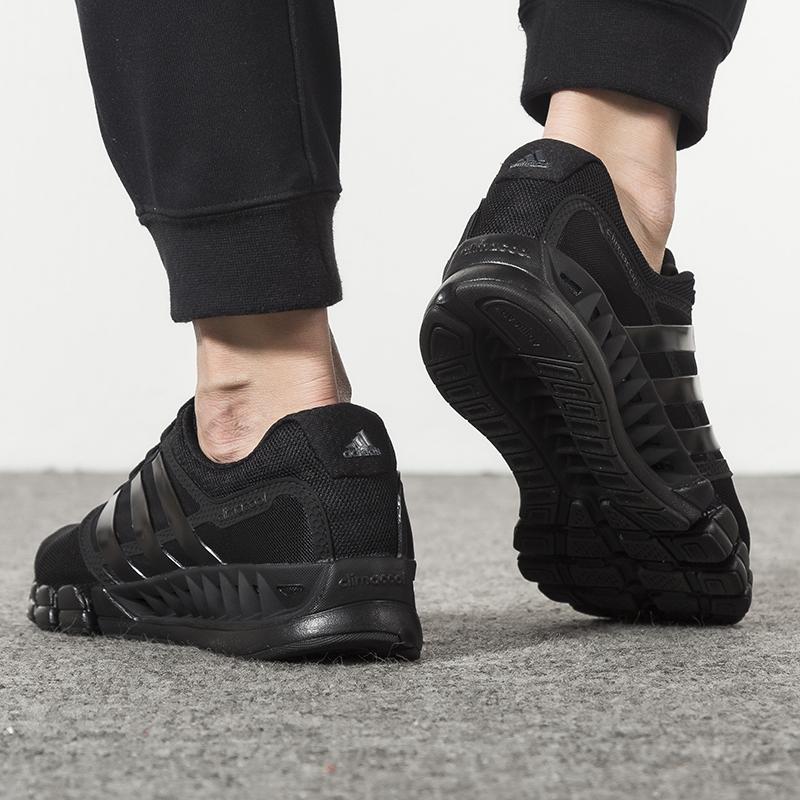 热销9件买三送一阿迪达斯男鞋新款正品小椰子透气运动鞋黑武士跑步鞋耐磨休闲鞋