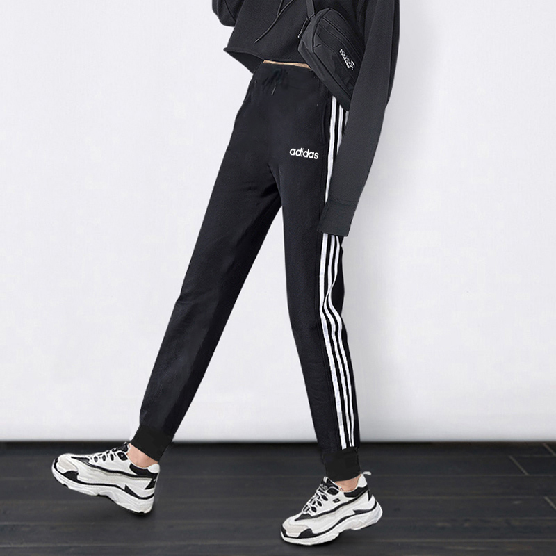Adidas women's trousers autumn and winter flagship official website trousers casual trousers and velvet sports pants women