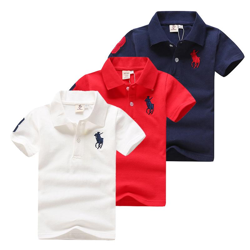 童装男童短袖t恤纯棉巴拉夏季新款儿童纯色翻领T恤小中童polo衫潮
