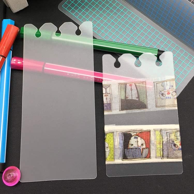 分隔pp胶带a5a6活页夹手帐透明磨砂分装片书签和纸分装板
