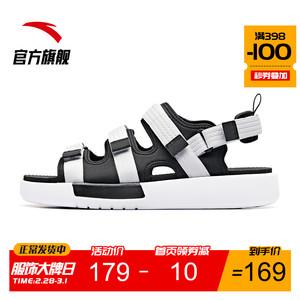 安踏凉鞋男鞋2020夏季新款潮休闲男士沙滩凉鞋休闲鞋子运动凉鞋男