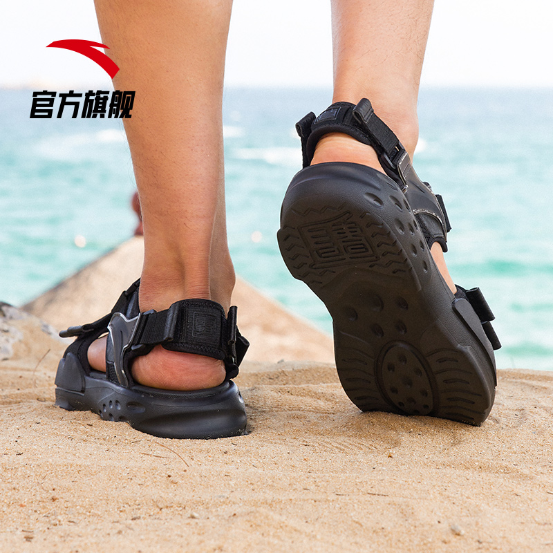 Anta sandals men's 2021 summer new soft bottom elastic casual breathable tide shoes sports beach sandals and slippers
