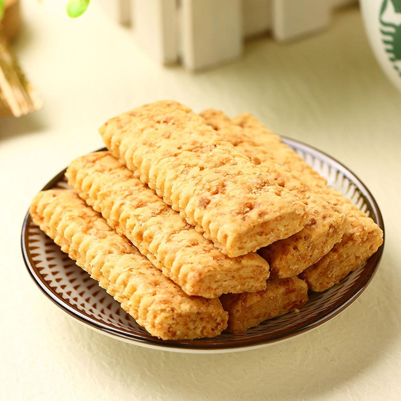 进口老杨咸蛋黄饼干2盒方块蛋黄酥?#28304;?#39184;茶点心网红儿童零食年货