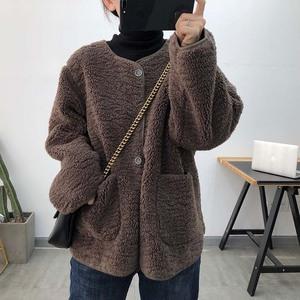 加厚羊羔毛外套冬2020新款韩版宽松