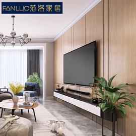木饰面板护墙板装饰板电视墙背景墙客厅卧室隐形门墙裙全屋定制