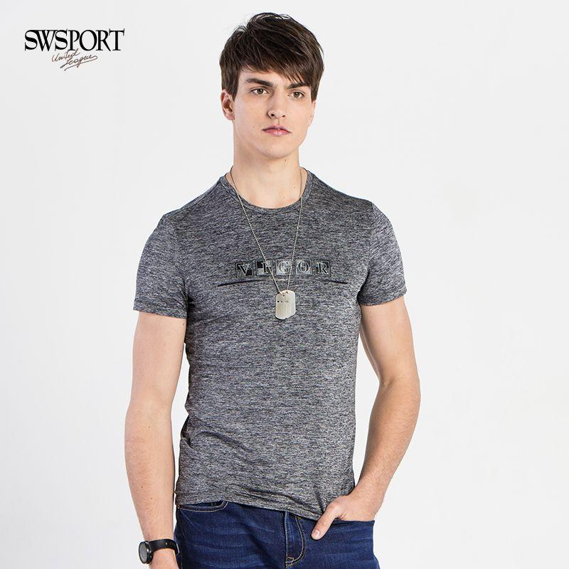 Swsport / Ben Lang short sleeve t-shirt mens summer round neck youth letter printed T-shirt