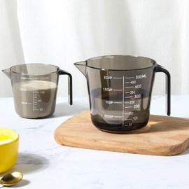 塑料量杯透明带刻度杯大小测量杯奶茶店厨房家用烘焙计量工具套装图片
