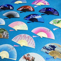 霸王别姬班级学生折叠扇子折扇中国风古风日式女式真丝绸夏季舞蹈