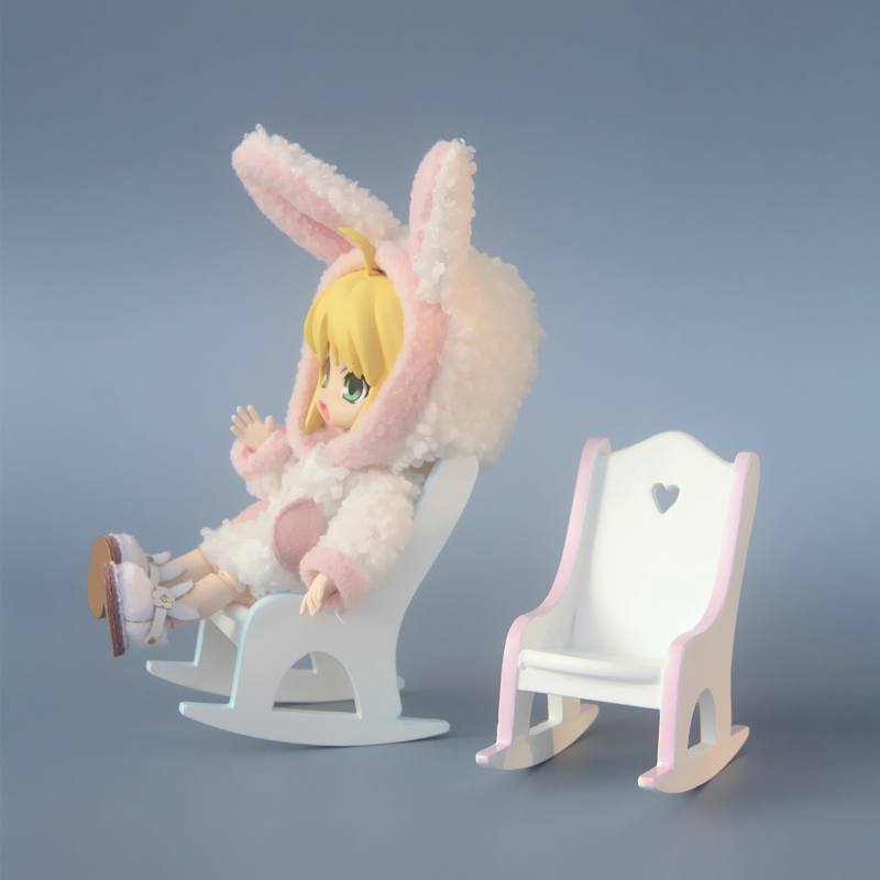 BJD Mini Doll House furniture model miniature scene props accessories ob11 hand rocking chair food and play accessories