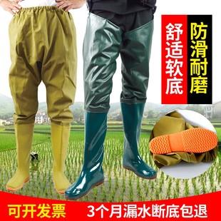 长高筒过膝钓鱼专用插秧水田鞋 雨鞋 靴软底半身防水裤 腰雨靴男女