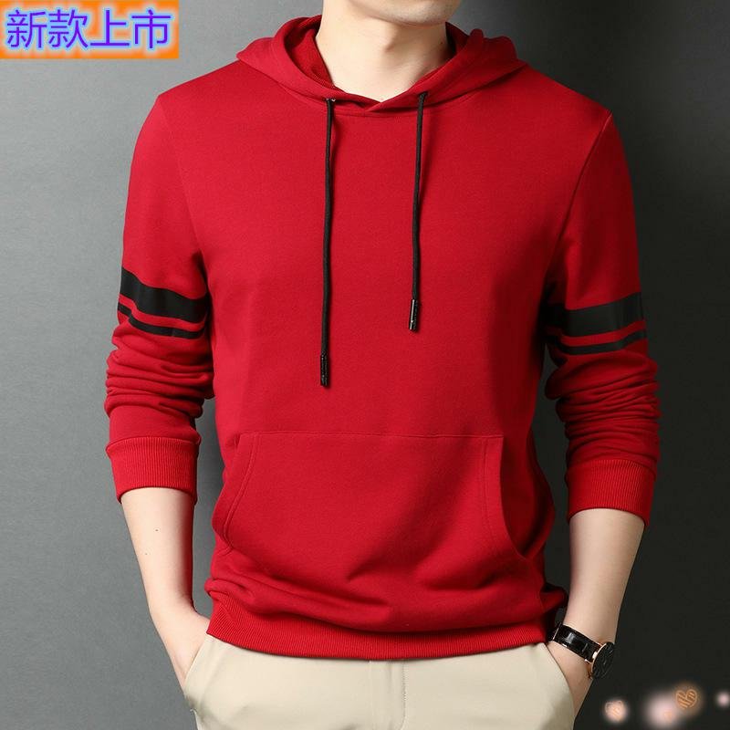 Top grade zhuodanlongchun mens sweater hooded mens Cotton Long Sleeve Polo Shirt Youth Popular extra wide
