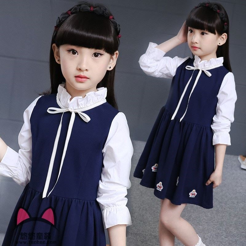Baby skirt 0-1-3 years old baby children children autumn dress pure cotton long sleeve girls dress autumn.