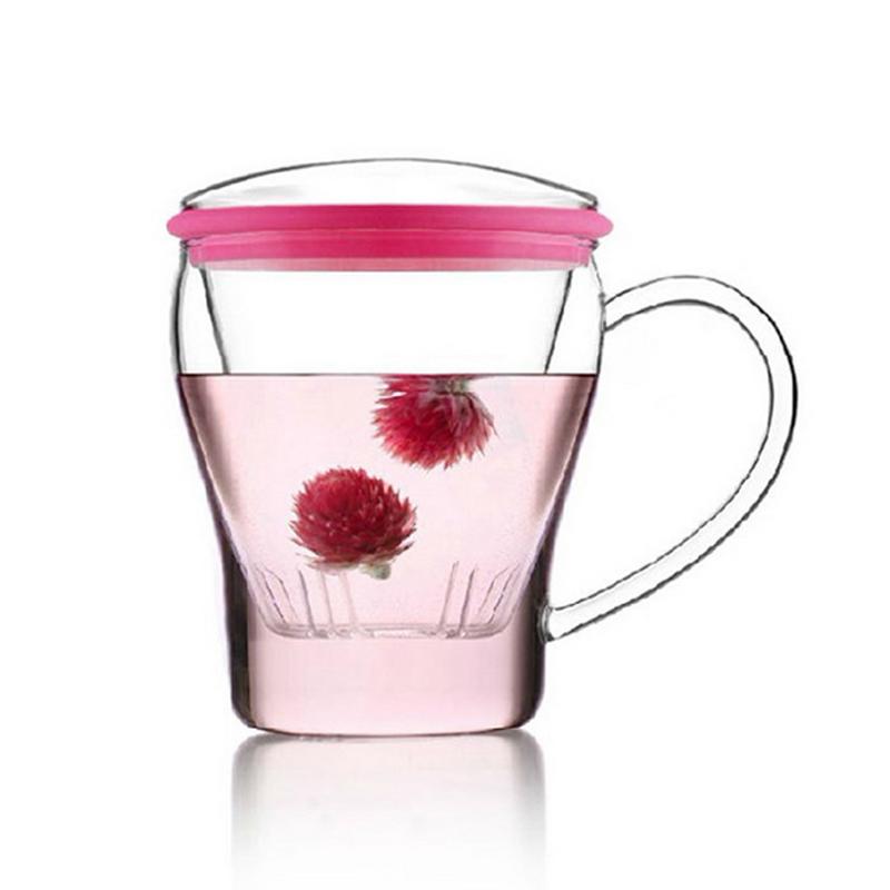 乐怡vatiri俪姿耐热创意泡茶杯过滤家用办公杯果汁牛奶玻璃水杯子
