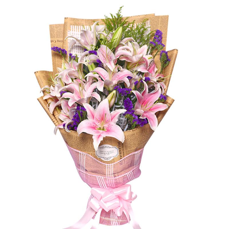 哈尔滨同城鲜花速递本地鲜花店香水百合花束送妈妈长辈女友母亲节