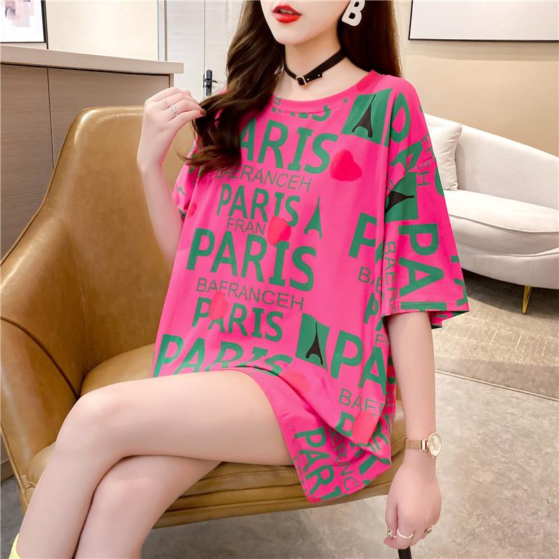 2021年夏季爆款女装新款小众大t恤