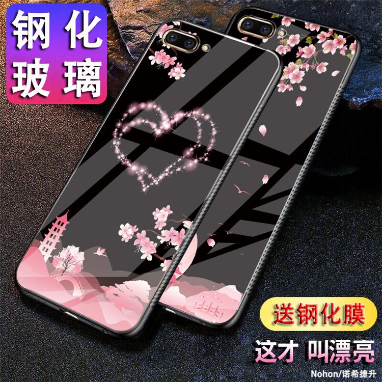 送钢化膜oppor11手机壳时尚oppor11t玻璃套poopr11外壳卡通opr网红个性男女潮opppr11创意新款彩绘好看漂亮的