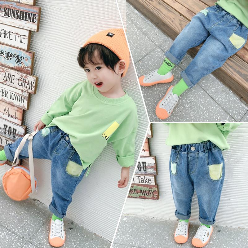 男童1秋装2小朋友3到4至5岁男孩子6穿7时尚休闲裤8牛仔布长裤nv库