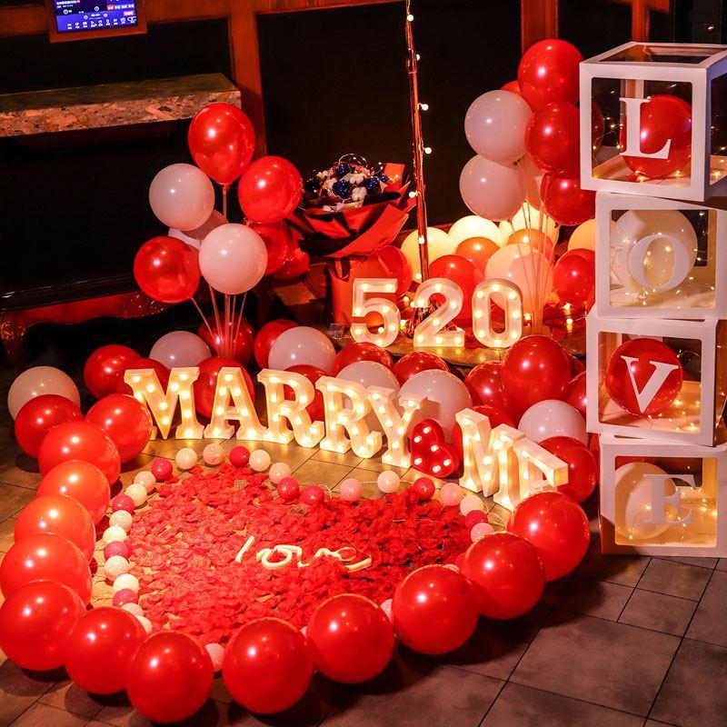 派对100天气氛求婚道具仪式感情人节礼物老公用品嫁给我周年简约