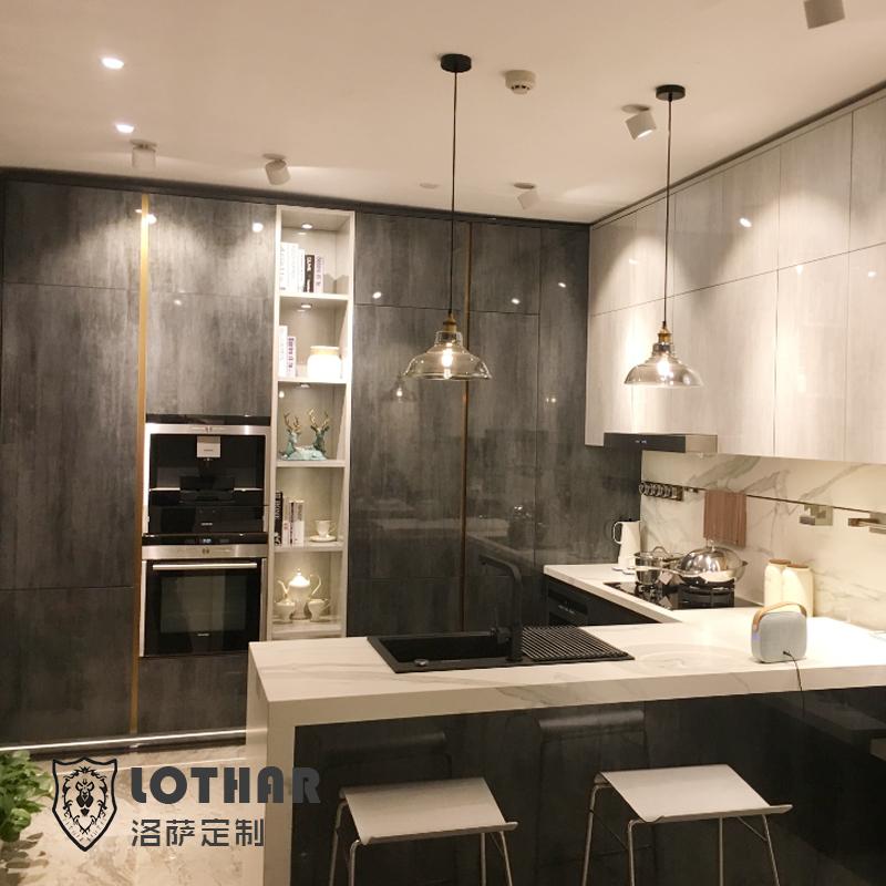 橱柜厨房整体威法同款vifa钛金白灰意式法式现代轻奢全屋高端定制