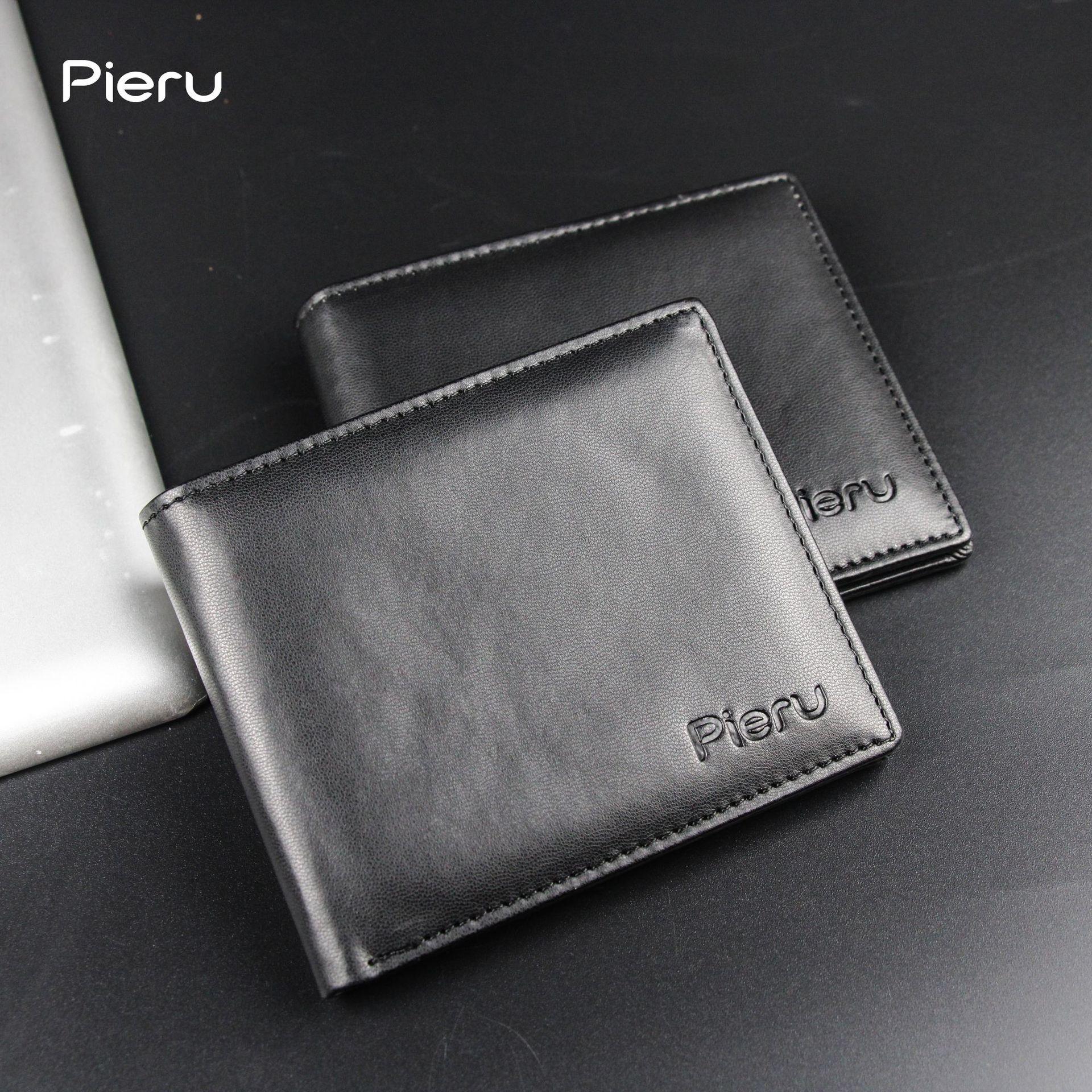 中國代購|中國批發-ibuy99|钱包|经典商务零钱包羊仔纹卡夹大容量卡位短款钱包男士零钱包正品皮夹