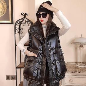 羽绒棉马甲女2020冬装新款韩版短款宽松坎肩棉衣无袖背心马夹外套
