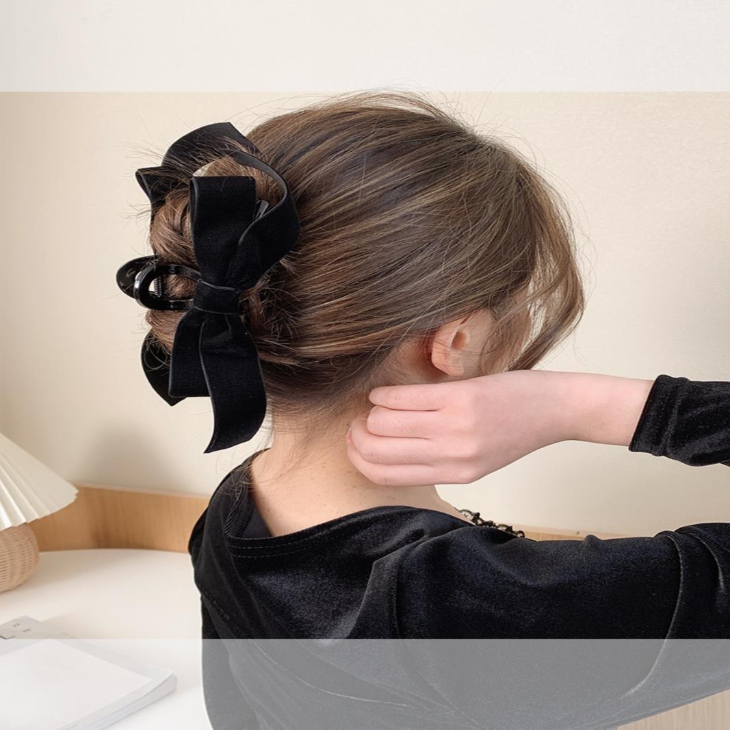超大号抓夹特大号发量多盘头发用的发夹脑后勺高端气质高级感夹子