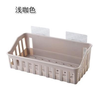 创意家居壁挂粘贴塑料篮子式墙壁收纳盒厨房免打孔储物筐置物浴室