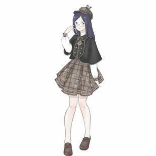 小熊偵探學院洛麗塔洋裝刺繡格子長袖連衣裙毛呢斗篷日系軟妹套裝