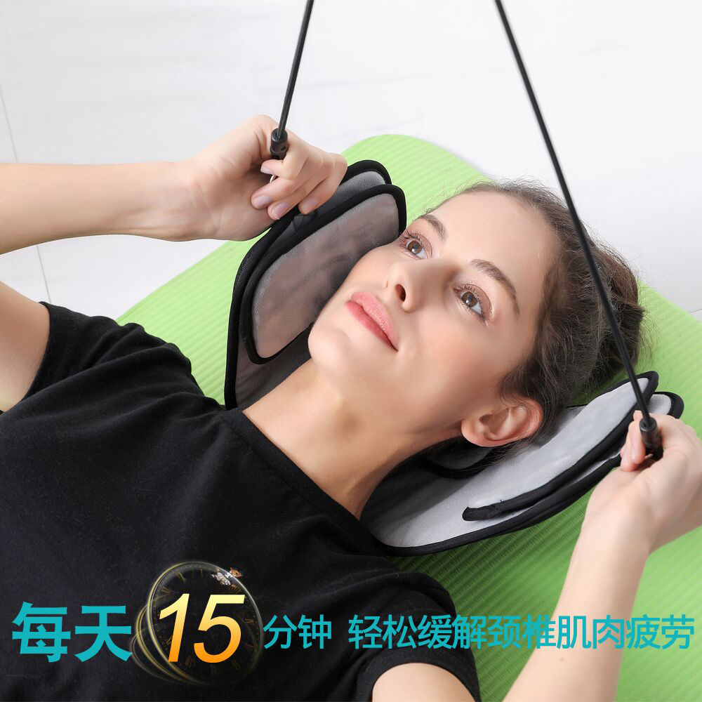 Neck hammock cervical massage device neck correction pillow household hanging bag cervical pain kneading stretching traction device