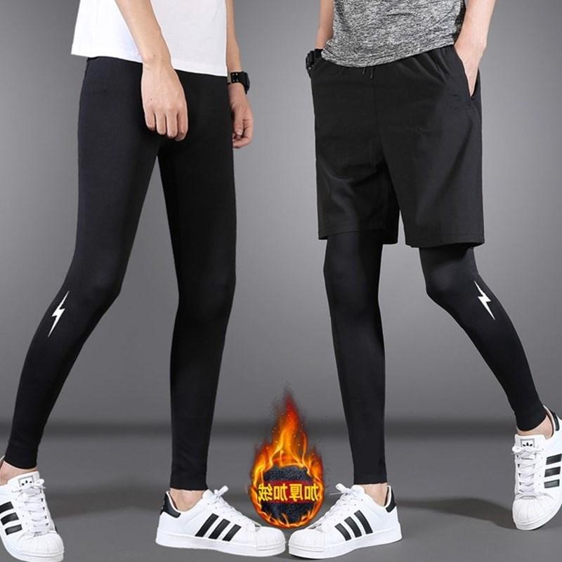 篮球紧身裤秋高弹力运动跑步长裤男女加绒加厚健身田径打底裤训练