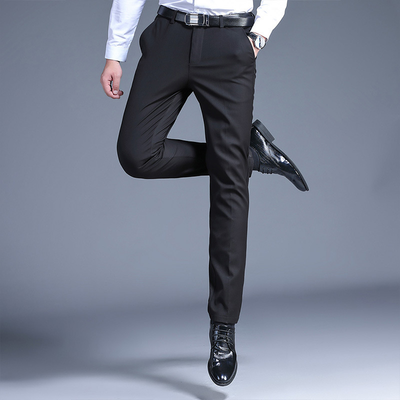 Mens casual pants mid waist mens trousers in the spring and autumn of 2020