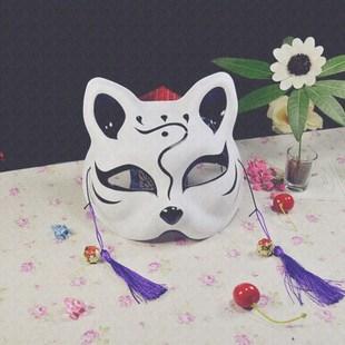半面面具古风侧脸化妆舞会道具成人派对装扮创意个性半边面罩装饰