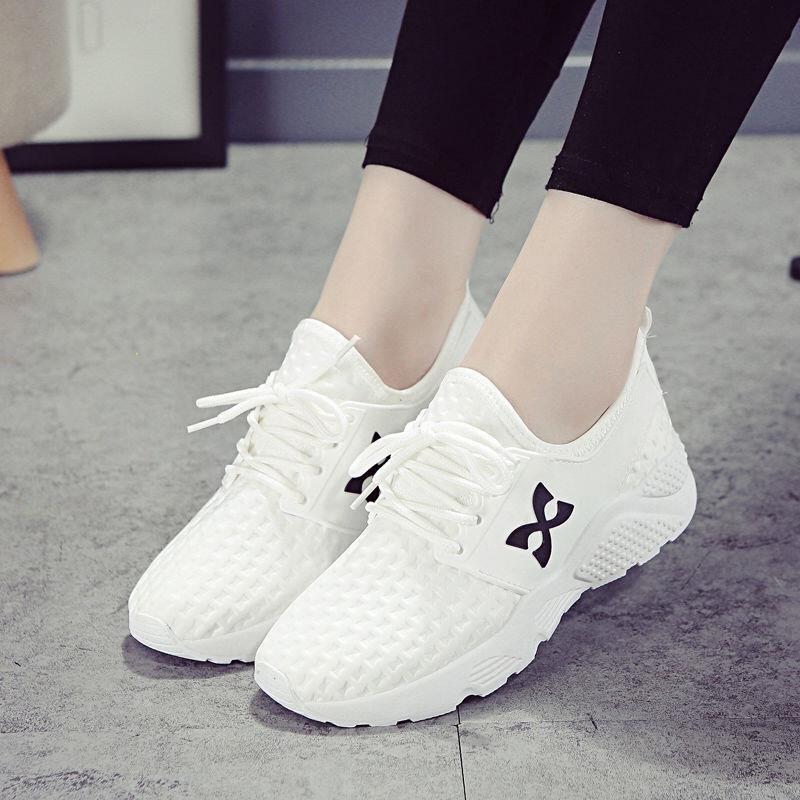 2019春季运动鞋女学生韩版百搭小白鞋女透气休闲鞋平底板鞋跑步鞋