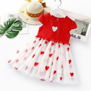女童连衣裙夏季网红洋气小童装2宝宝儿童3小女孩4短袖5岁公主裙子