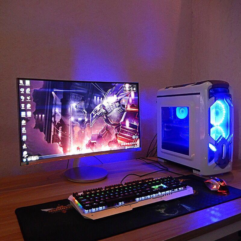 电脑台式全套i7高端吃鸡游戏高配1060水冷主机组装机网吧游戏型